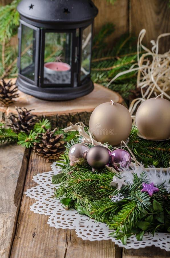 La Navidad Advent Wreath imagen de archivo