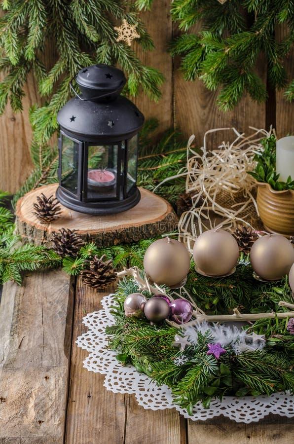 La Navidad Advent Wreath fotos de archivo libres de regalías