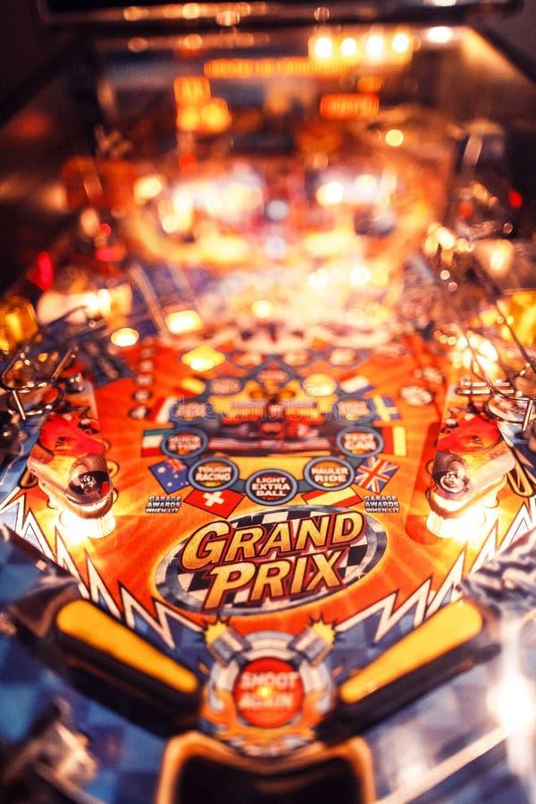 La Navidad Arcade Machine del pinball fotografía de archivo libre de regalías