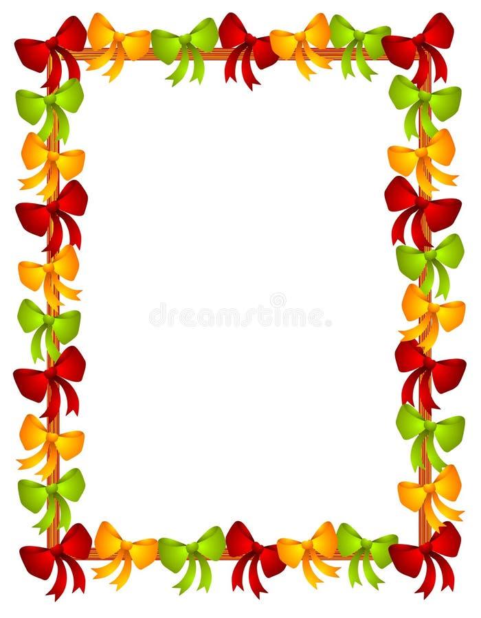 La Navidad arquea el marco de las cintas ilustración del vector
