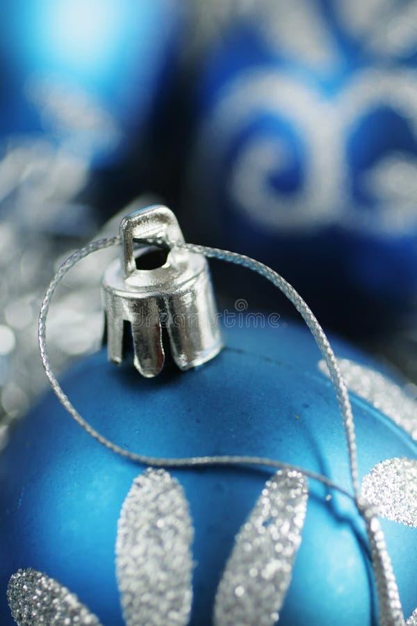 La Navidad azul imagen de archivo