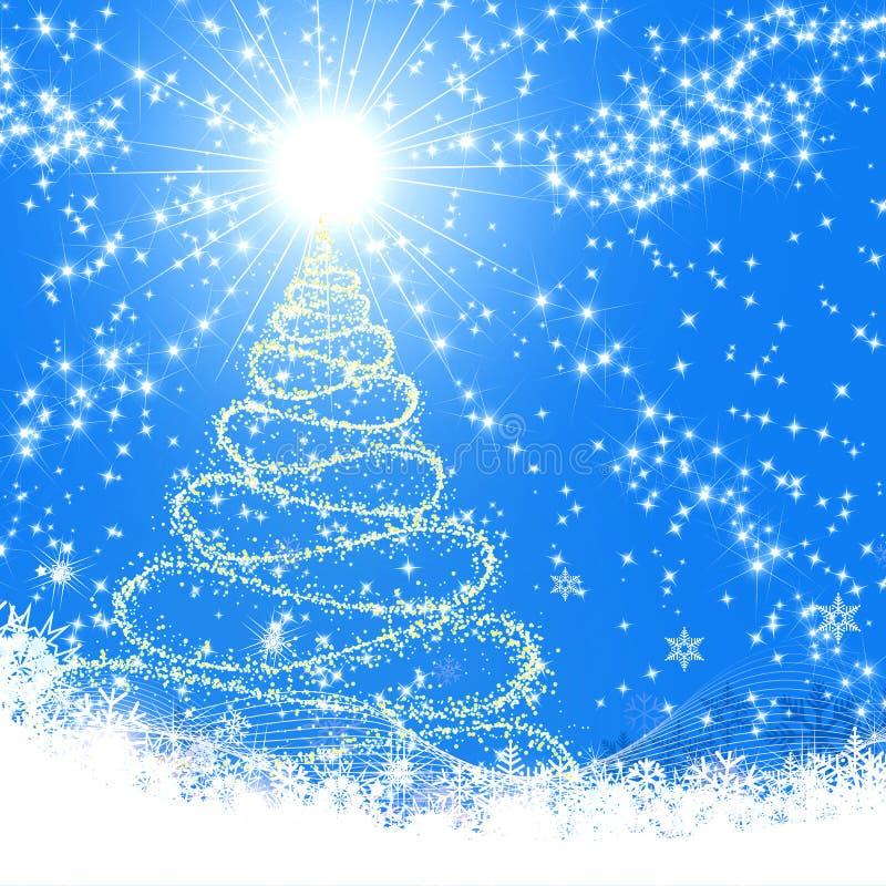 La Navidad azul ilustración del vector