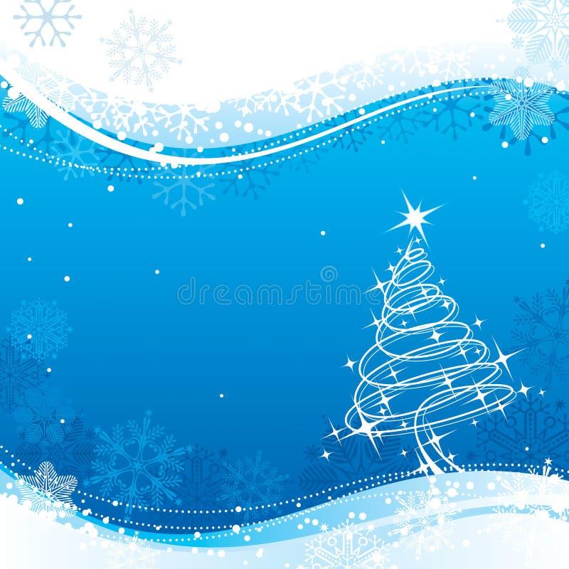 La Navidad azul stock de ilustración