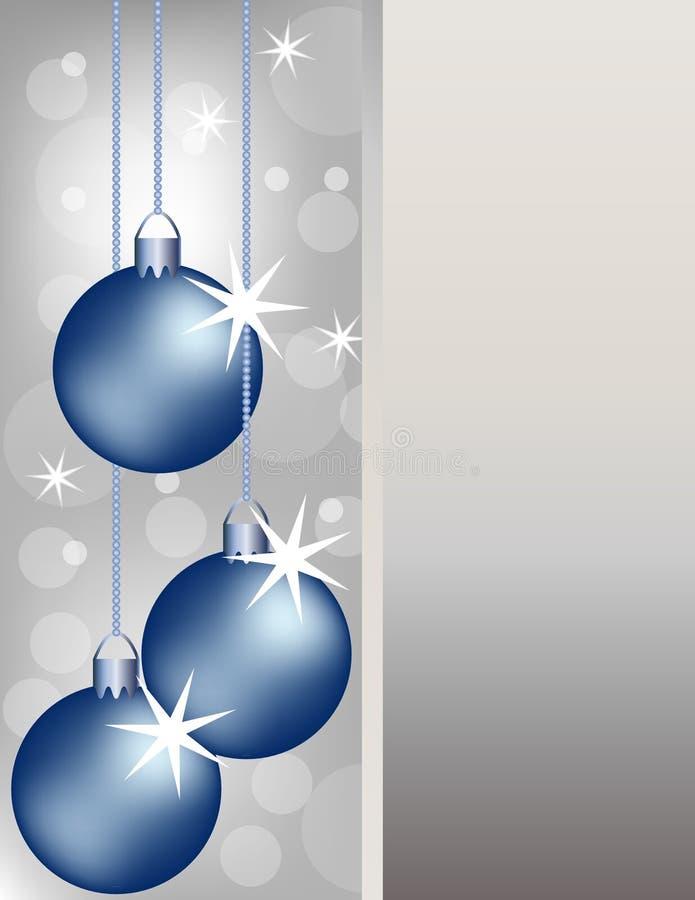 La Navidad azul adorna el fondo ilustración del vector