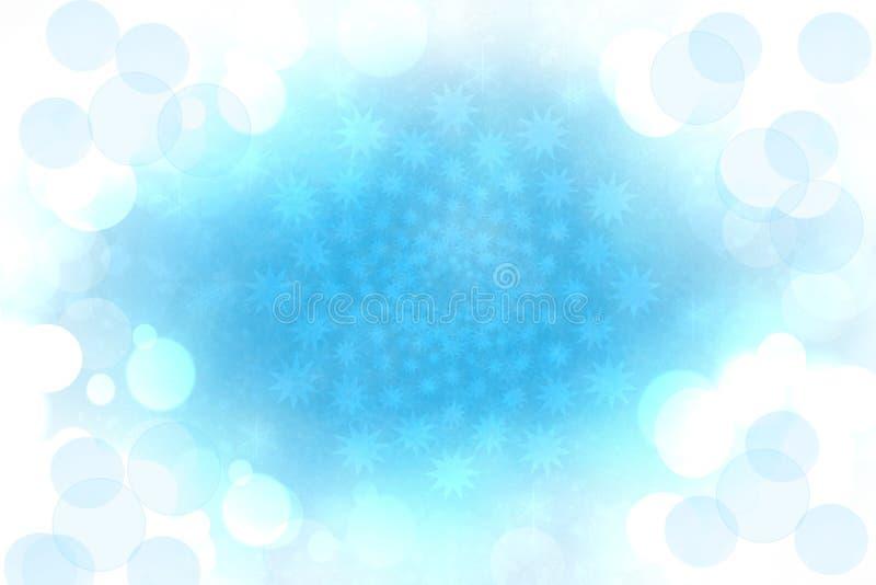 La Navidad azul clara festiva borrosa extracto del invierno o el fondo de la Feliz Año Nuevo con el bokeh azul y blanco brillante fotografía de archivo libre de regalías