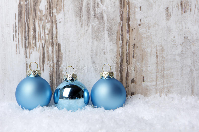 La Navidad, azul del ornamento de la Navidad fotos de archivo libres de regalías