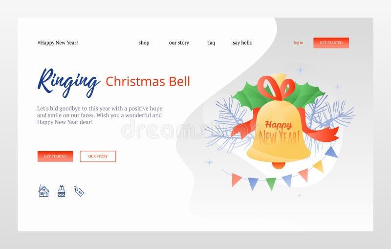 La Navidad Bell de sonido libre illustration