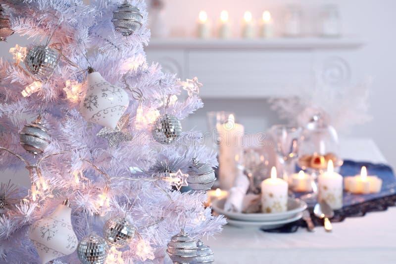 La Navidad blanca foto de archivo