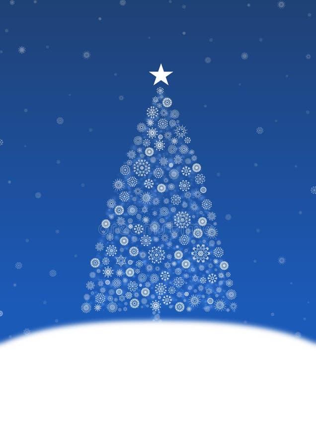 La Navidad blanca ilustración del vector