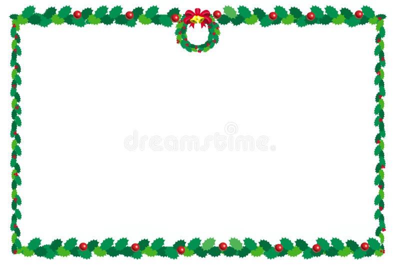 La Navidad border2 stock de ilustración