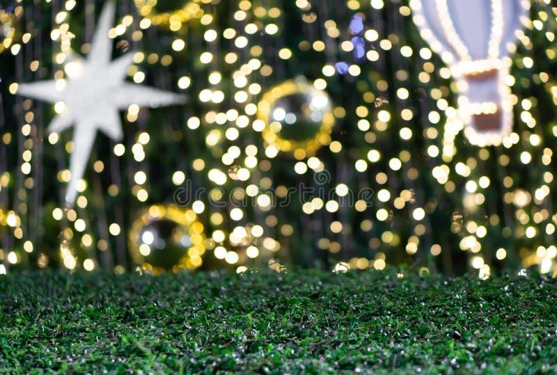 La Navidad borrosa del brillo de Bokeh, día de fiesta de Navidad imagen de archivo libre de regalías