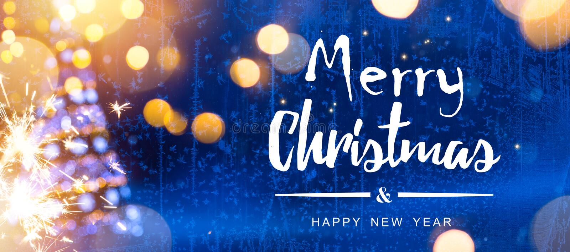 La Navidad brillante; Fondo azul de los días de fiesta de Navidad con el árbol imagenes de archivo