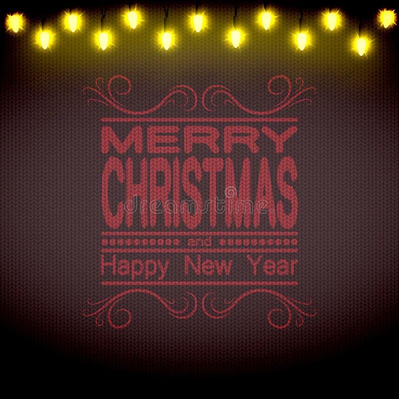 La Navidad Brown hizo punto el suéter y una cadena de luces con las sombras libre illustration