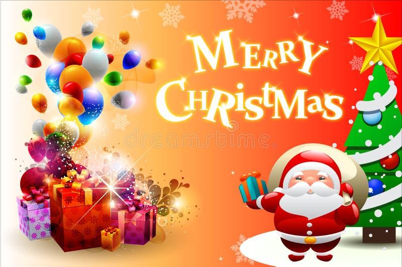 La Navidad card-04 stock de ilustración