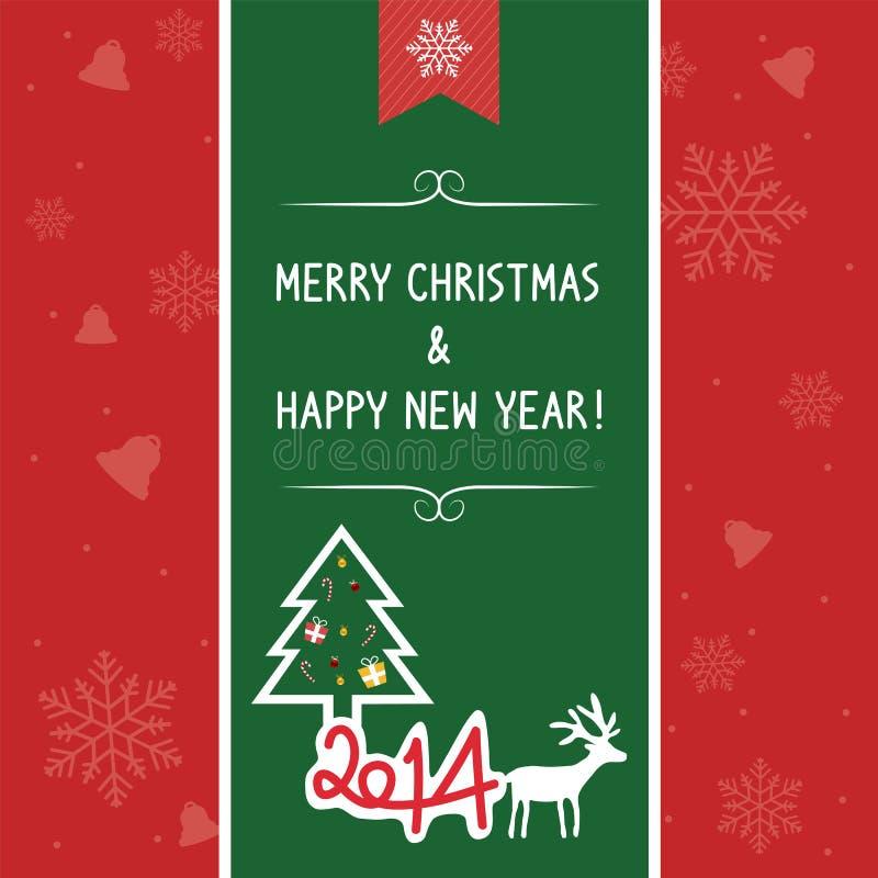 La Navidad card1 de saludo stock de ilustración