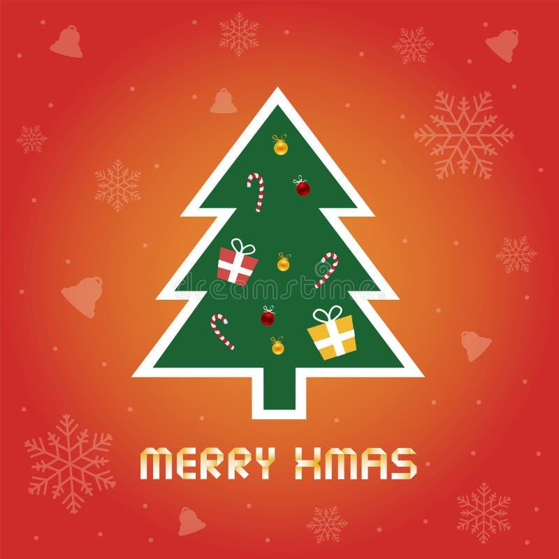 La Navidad card8 de saludo ilustración del vector