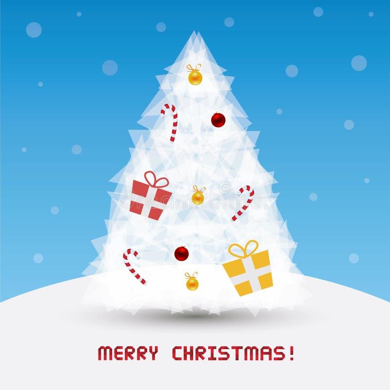 La Navidad card64 de saludo stock de ilustración