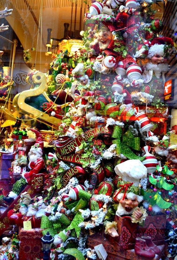 La Navidad colorida juega el escaparate imagen de archivo