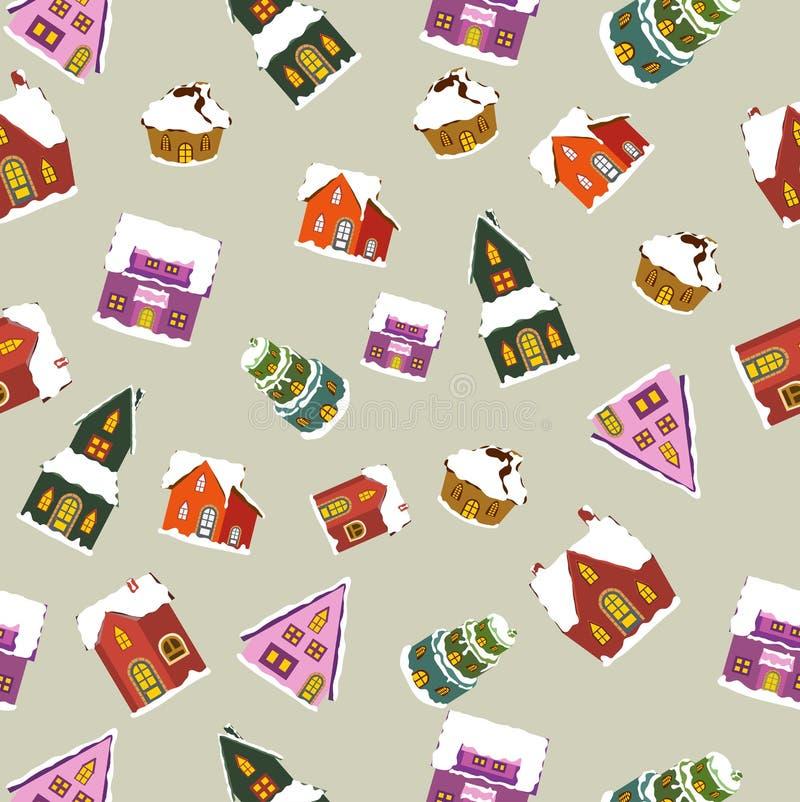 La Navidad contiene el modelo inconsútil stock de ilustración