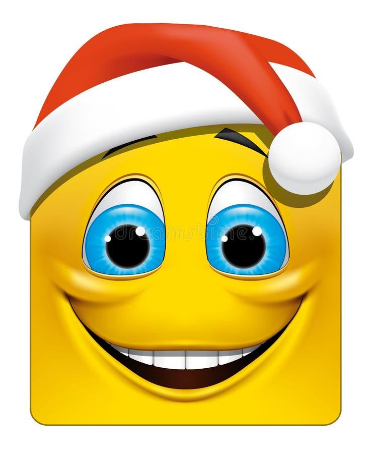 La Navidad cuadrada del emoticon libre illustration
