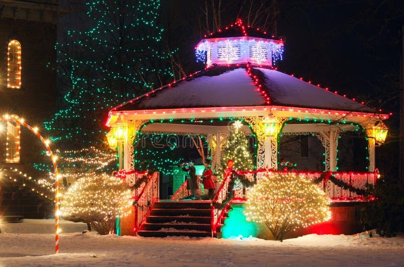 La Navidad de la aldea fotos de archivo