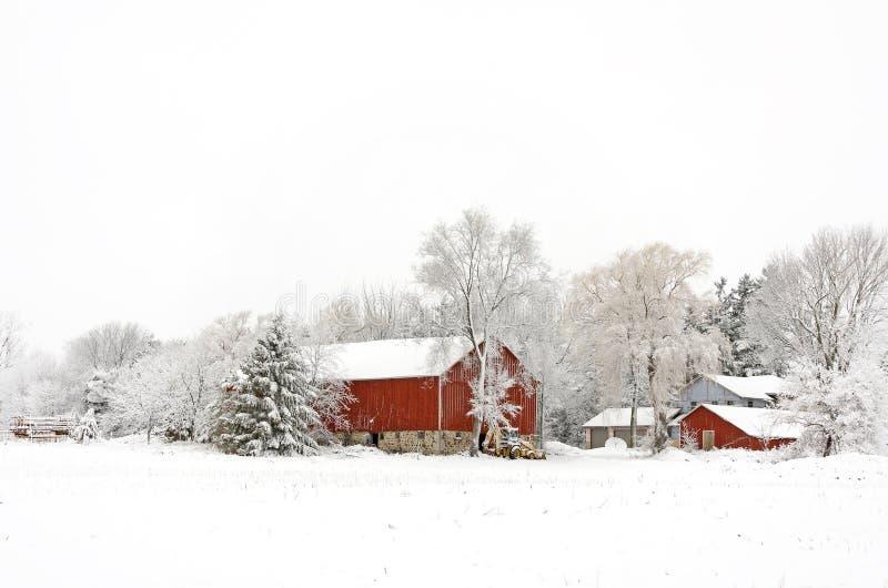 La Navidad de la granja del invierno imagen de archivo libre de regalías