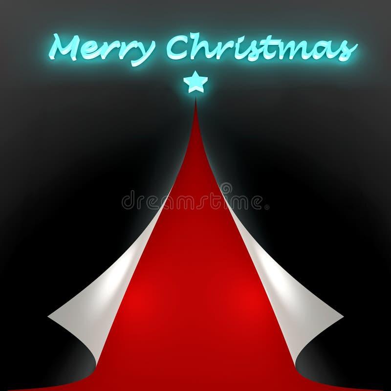 La Navidad de la tarjeta de felicitación libre illustration
