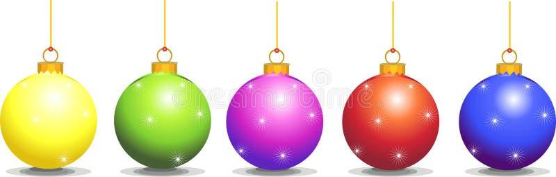 La Navidad de las decoraciones stock de ilustración