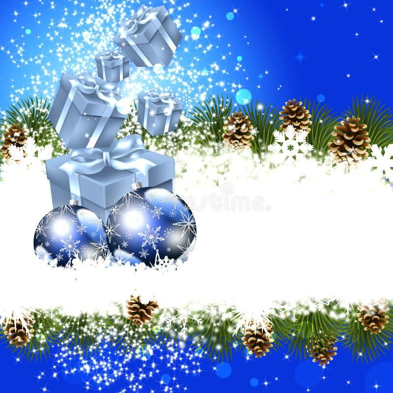 La Navidad de lujo del fondo ilustración del vector