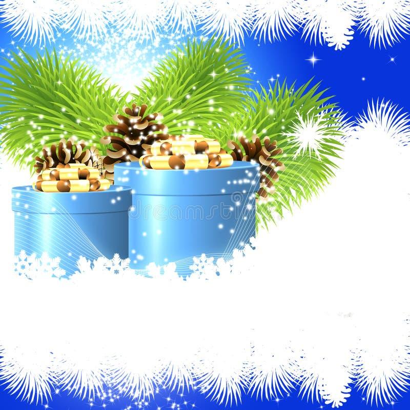La Navidad de lujo del fondo stock de ilustración
