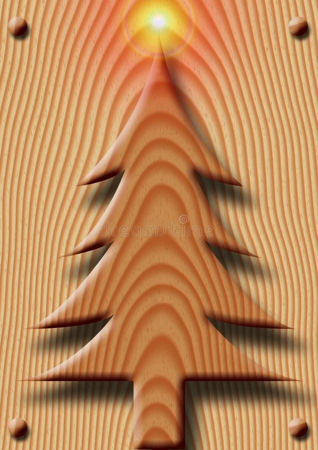 La Navidad de madera stock de ilustración