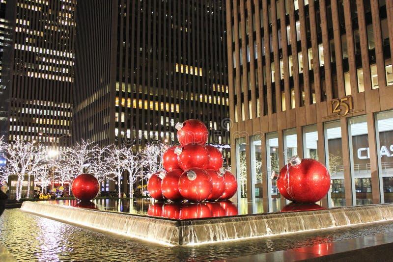 La Navidad de Nueva York fotografía de archivo