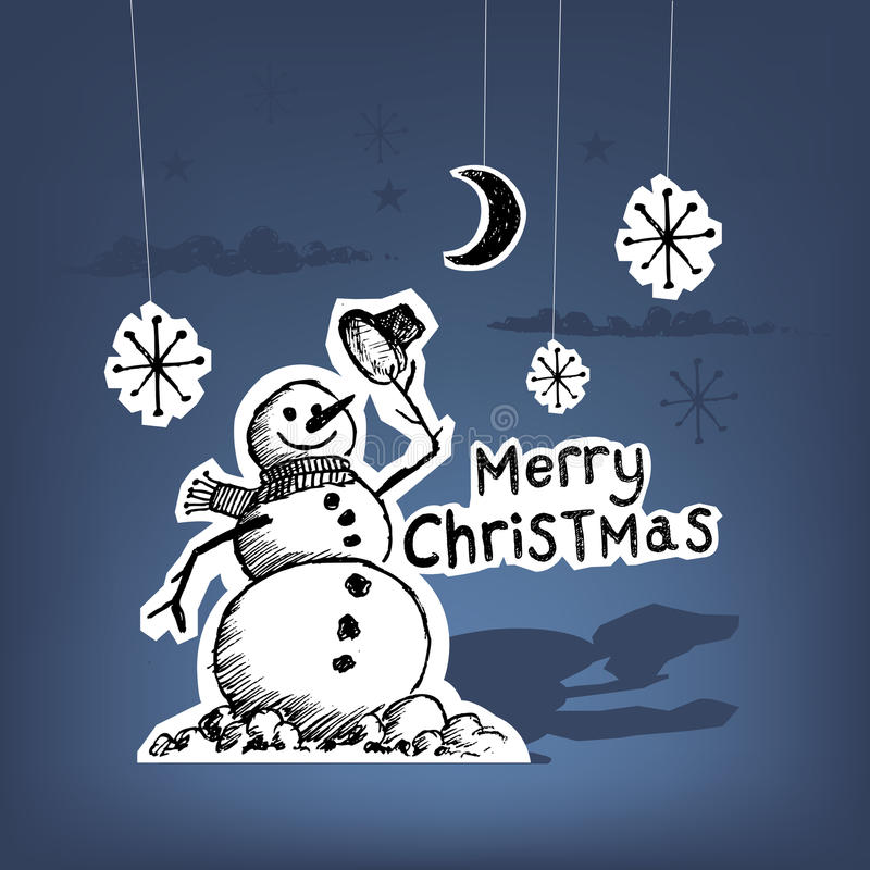La Navidad de papel stock de ilustración