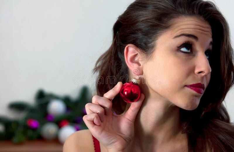 La Navidad de pensamiento foto de archivo libre de regalías