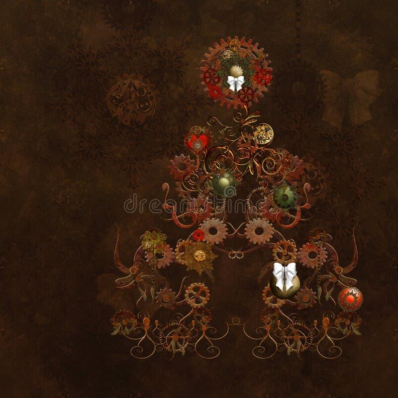 La Navidad de Steampunk ilustración del vector