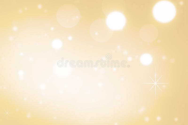 La Navidad defocused de la textura del brillo del bokeh abstracto del oro con el fondo ligero del bokeh stock de ilustración