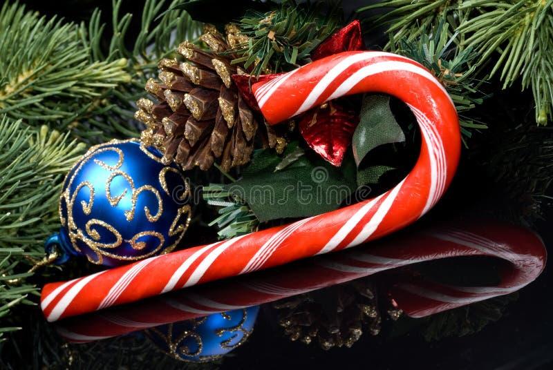 La Navidad del bastón de caramelo foto de archivo libre de regalías