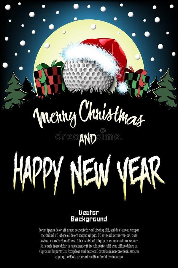 La Navidad del deporte y modelo del Año Nuevo ilustración del vector