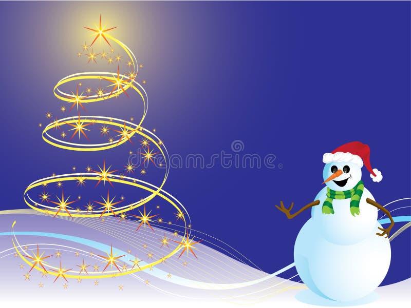 La Navidad del fondo ilustración del vector