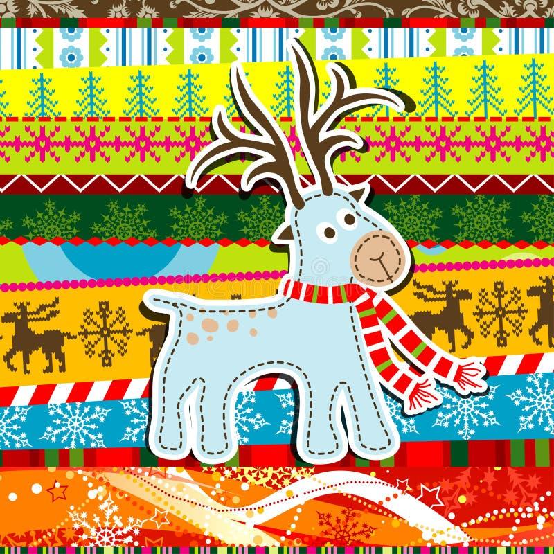 La Navidad del libro de recuerdos modela la tarjeta de felicitación libre illustration