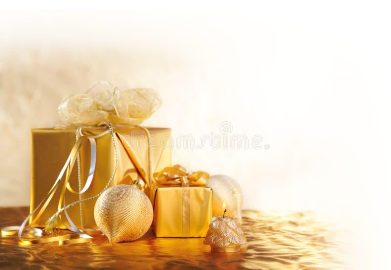 La Navidad del oro fotografía de archivo libre de regalías