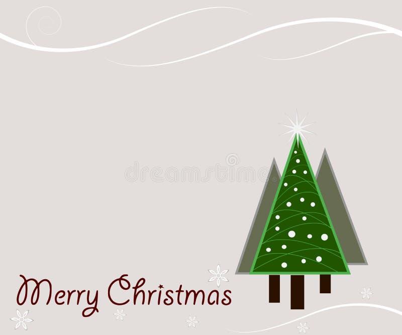 La Navidad del vintage stock de ilustración