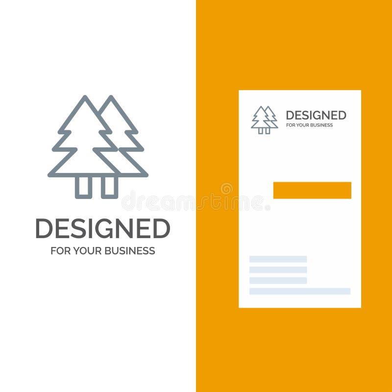 La Navidad, Eco, ambiente, verde, feliz Grey Logo Design y plantilla de la tarjeta de visita libre illustration