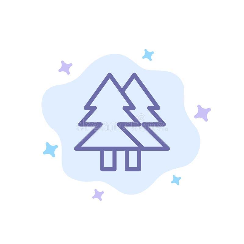 La Navidad, Eco, ambiente, verde, feliz icono azul en fondo abstracto de la nube libre illustration