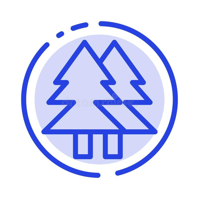 La Navidad, Eco, ambiente, verde, feliz línea de puntos azul línea icono stock de ilustración