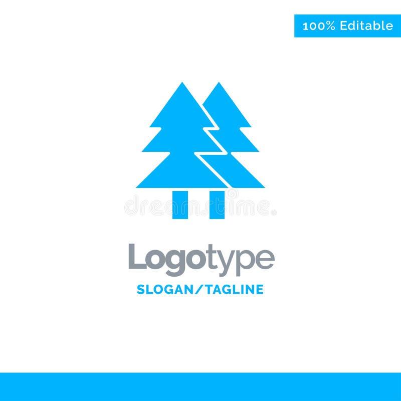 La Navidad, Eco, ambiente, verde, feliz Logo Template sólido azul Lugar para el Tagline libre illustration