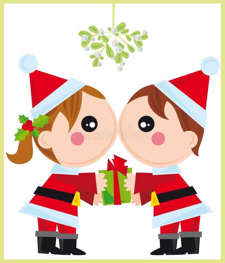 La Navidad en amor ilustración del vector