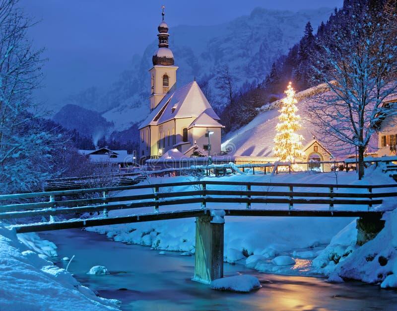 La Navidad en Baviera, Alemania imagen de archivo libre de regalías