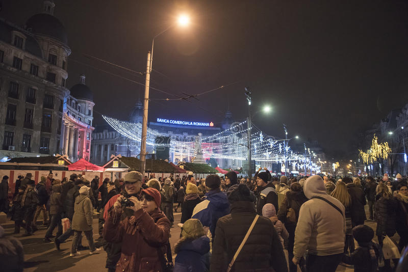La Navidad en Bucarest (8) imágenes de archivo libres de regalías
