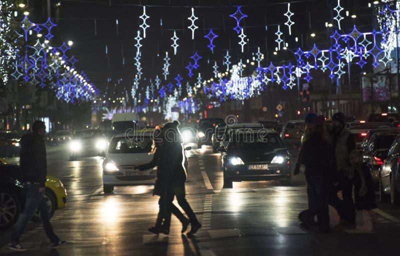La Navidad en Bucarest (1) foto de archivo
